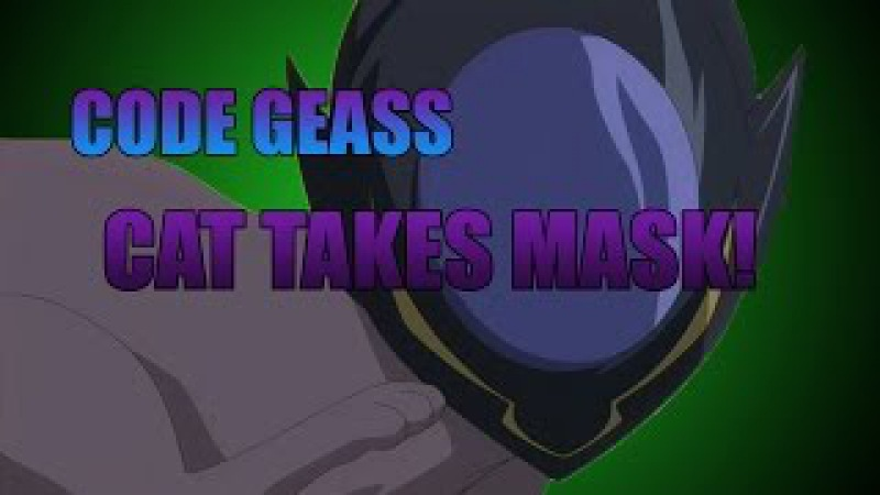 Code Geass Cat takes Lelouch's mask