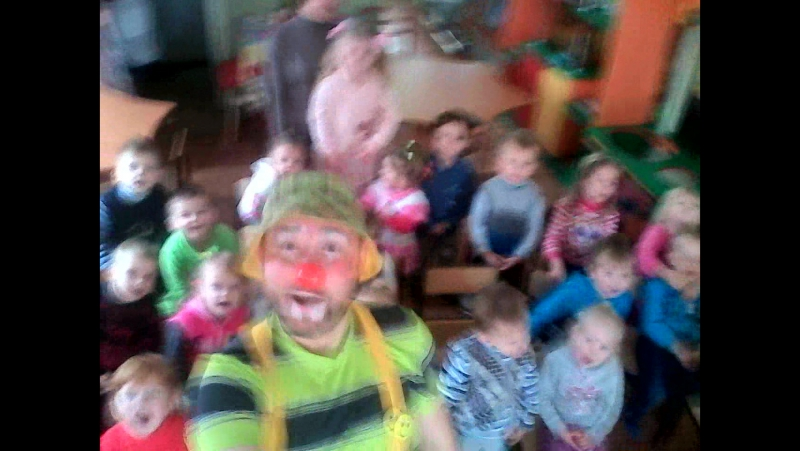 Клоун Шурик 2016 11 29 Детский сад Улыбка Мирноград