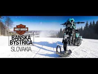 Снегоход Harley-Davidson XL1200CX Sportster Roadster Snow Drag из Словакии