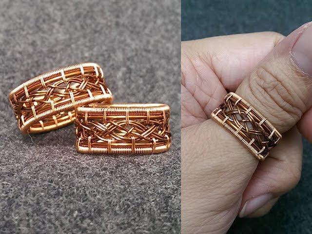 Unisex copper ring knot ring for men big ring for men and women 274