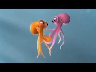Прикольный очень мультик Осьминожки - про любовь\Cool cartoon very Octopussy - about love