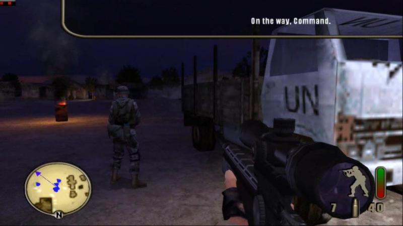Delta Force Black Hawk Down USA PCSX 2 16 9 HD 720 p