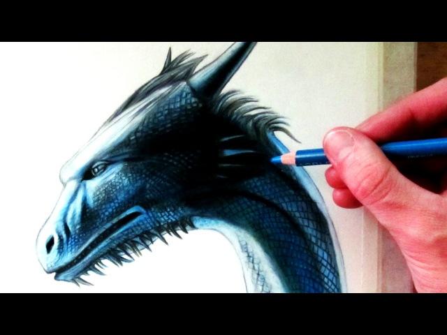 Drawing a Dragon Head Saphira from Eragon