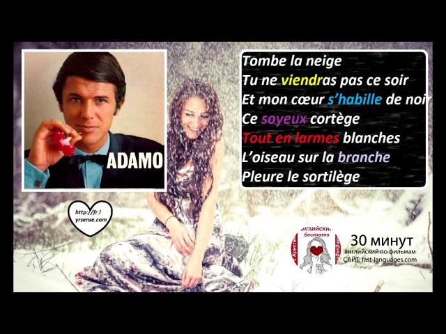 Французский язык по песням 7 с Кристиной Франц TOMBER LA NEIGE ADAMO
