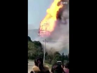 В Китае сгорела самая высокая пагода