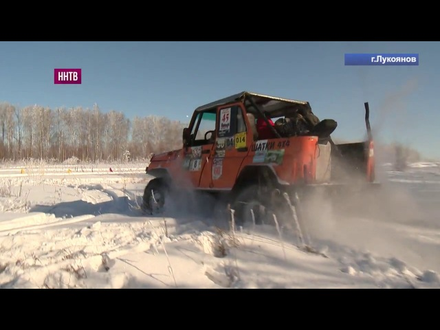Традиционные гонки на внедорожниках в Лукоянове приуроченные к 100 летию Красной армии