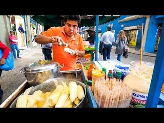Street Food in Oaxaca - CHEESE CORN CHAMPION and Mexican Meat Alley Tour in Mexico!