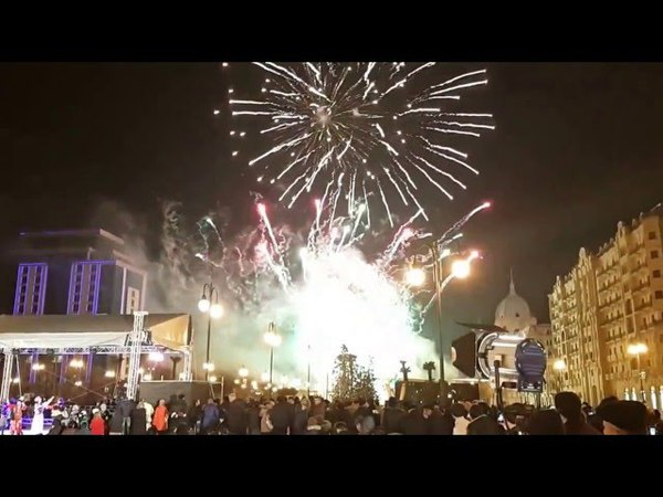 Баку Зимний Бульвар Празднование последнего Чяршянбя года Концерт Салют