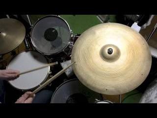 "Three Great Cymbals Avedis Zildjian 22"" Vintage 50's 60's Sizzle Thin Light Jazz Crash Ride"