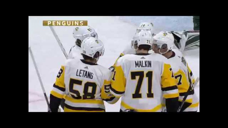 Malkin opens the scoring with PPG 10 28 2017 PIT vs MIN