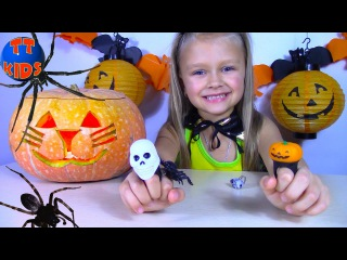 Bad HALLOWEEN Kid's Make a Giant pumpkin Horror Haunted House Stories