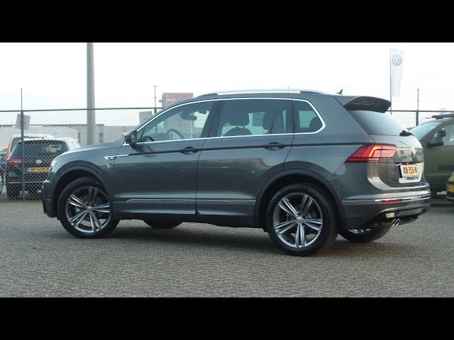 Volkswagen NEW Tiguan 2018 R- Line Indium Grey Metallic walk around inside r line