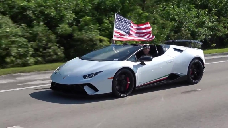Lamborghini Huracan Perfomante Spyder Wishes you Happy 4th of July From Lamborgh