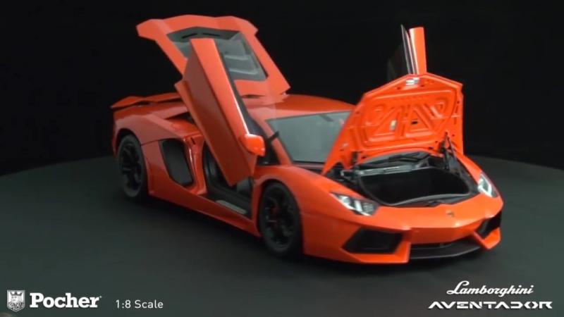DIECAST MODEL }}} 1:8 Lamborghini Aventador_POCHER {{{ 2016 HD