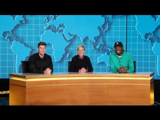 Ellen Joins Michael Che and Colin Jost for Weekday Update