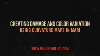 Quick Tip - Creating damage and color variation using curvature maps in MARI