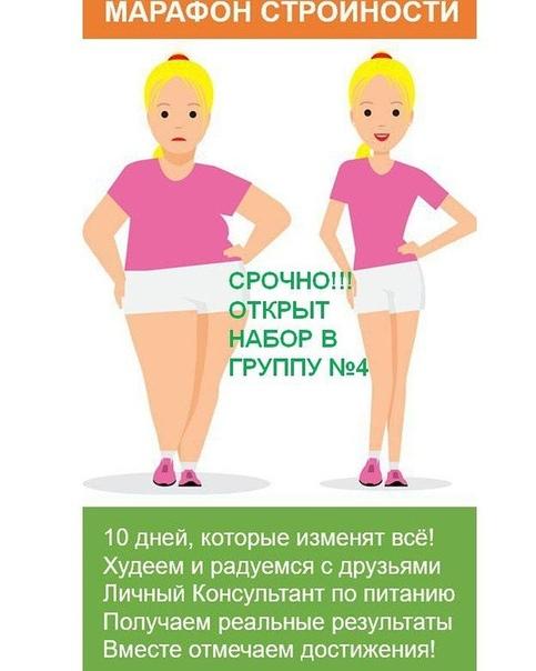 Проекты похудения список