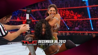 WWE Tables Ladders & Chairs 12/16/12 - Naomi vs. Eve Torres