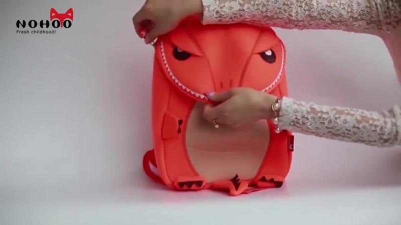 Качественный неопреновый рюкзак в виде динозавра