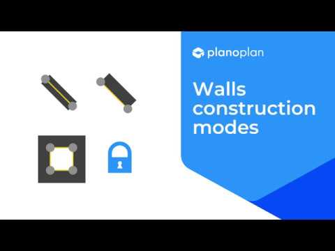 Planoplan 2.0 Walls constructions modes