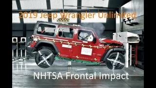 2019-2020 Jeep Wrangler Unlimited NHTSA Frontal Impact