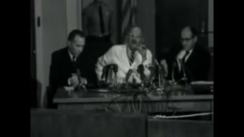 Коронер округа Лос Анджелес объявляет результаты расследования смерти Мэрилин Монро 1962 год