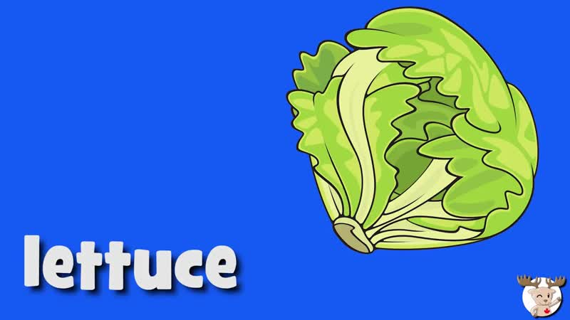 Vegetables Vocabulary Talking Flashcards
