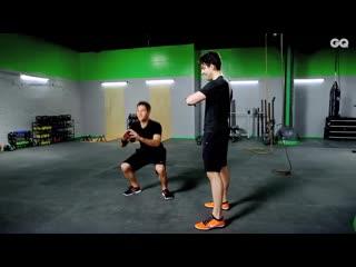 Тренировка для ног в стиле табата