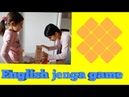 English for kids Jenga game activity numbers likes dislikes ability general vocabulary