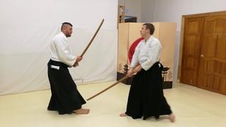 Aikido hand sword and bokken