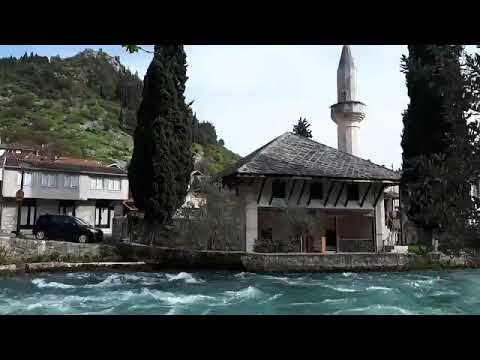 Stolac Bosnia and Herzegovina, River Bregava, Inat Bridge and Hadži Alija Mosque