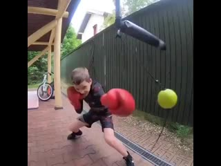 Little guy has some fast hands and some great