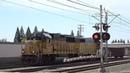 UP 1092 Lodi Local, Mercantile Dr. Railroad Crossing, Rancho Cordova CA