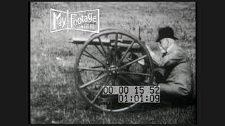1899 Sir Hiram Maxim Demonstrates His Invention The Machine Gun