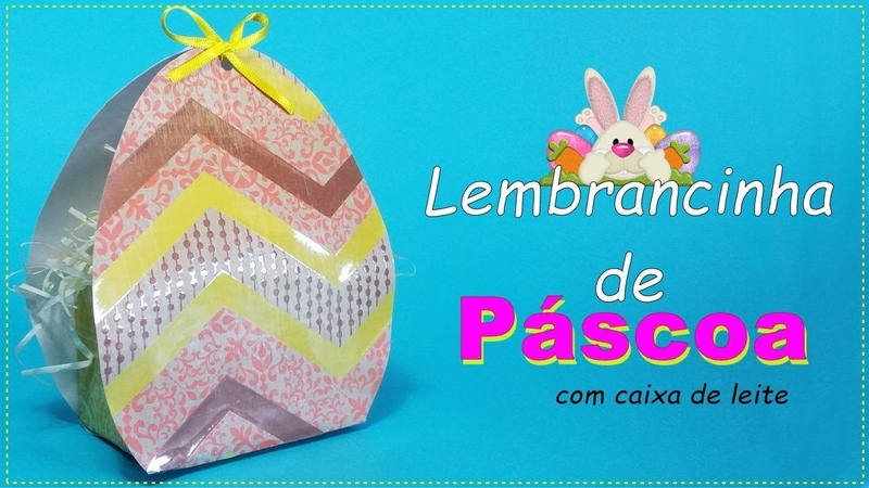 Lembrancinha Fácil e Linda Caixa para Páscoa Easter Souvenir