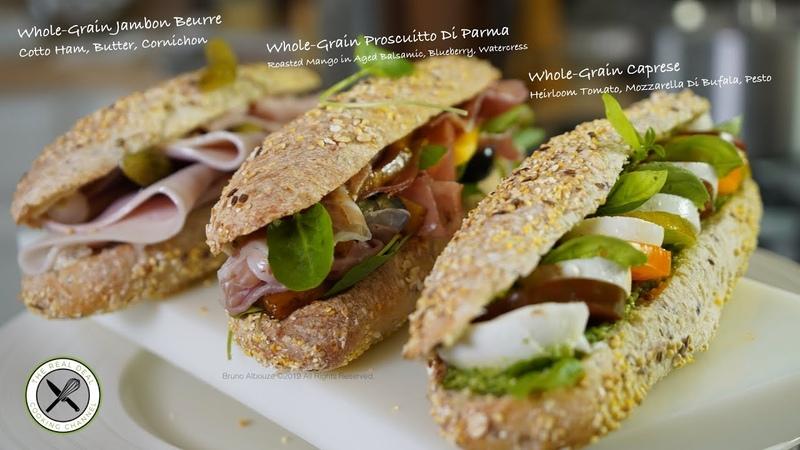 3 Sandwiches/Jambon / Caprese / Prosciutto–Bruno Albouze–THE REAL DEAL