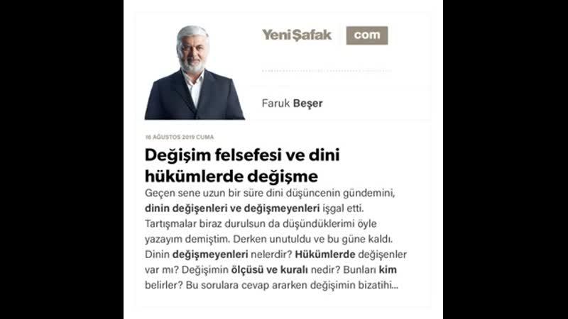 2. Faruk Beşer - Değişim felsefesi ve dini hükümlerde değişme - 16.08.2019