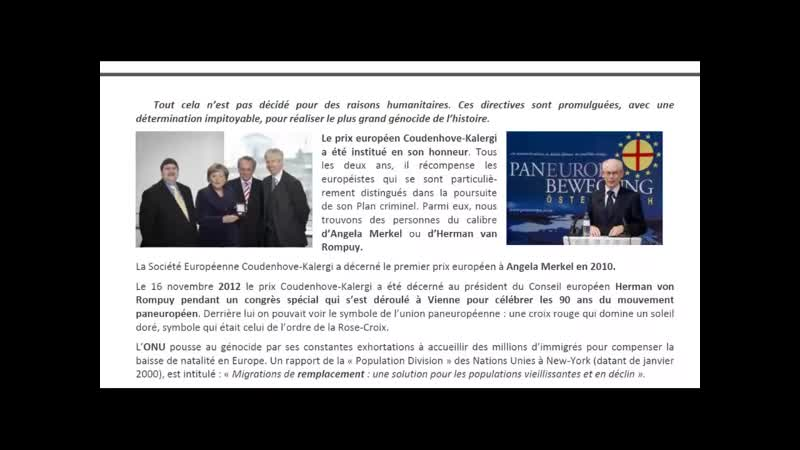 Richard Coudenhove Kalergi Le Génocide planifié des Européens La Paneurope métissée