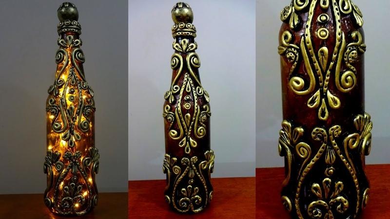 DIY Bottle Craft Glass Bottle Lamp Bottle Art