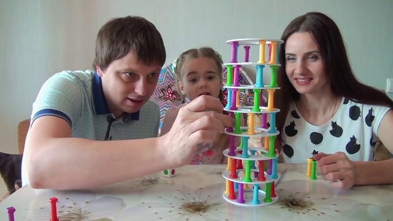 Настольная игра башня Tower Collapse Crazy Penguin