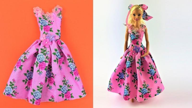 DIY Barbie Toy Summer Dress Video - Barbie Fashion Clothes Tutorial for Girls