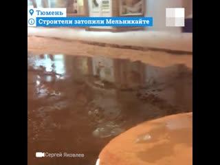 Из-за ошибки строителей на Мельникайте разлились реки