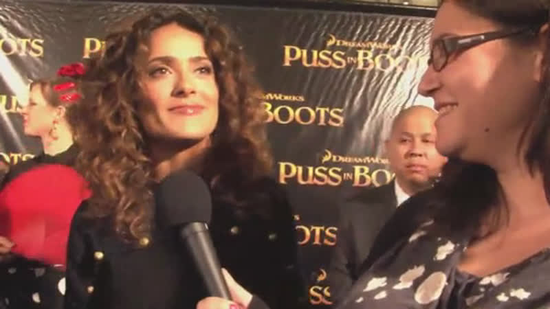 Сальма и Антонио с премьерой «Кота в сапогах» в Сан-Франциско | Puss In Boots (19/10/2011)