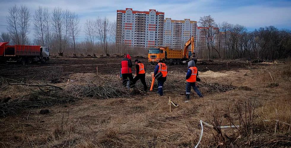 В Курчатове Курской области строят набережную и мост