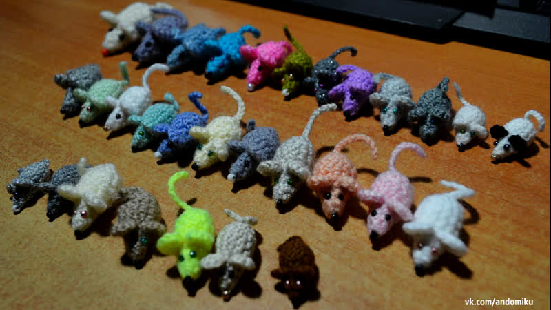 Отряд мышек амигуруми | Сколько я навязала мышек | Обзор амигуруми