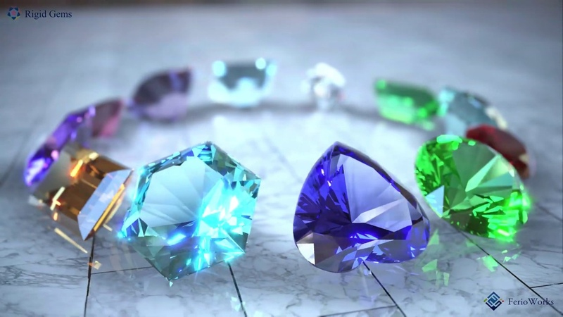 4K HDR 30fps: A Real time 3d cg jewelry RIGID GEMS 2.2 in HDR