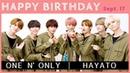 ONE N' ONLY │ HAYATO [Sept.17]【バースデーサプライズ】