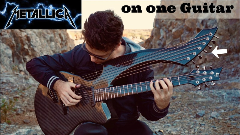 Fade to Black Metallica Harp Guitar Cover Jamie Dupuis