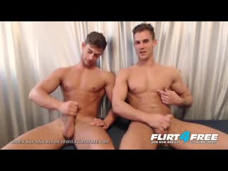 Flirt4free - aiden and alton - hot muscle studs jerk monster cocks together - free gay video by gayzer.club.