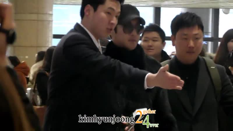 2013.01.05 KimHyunJoong fancam-Departure to OSAKA@Gimpo airport